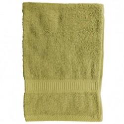 Serviette de toilette Vert anis 50x90 cm 100 % coton unie linge de toilette salle de bain neuf