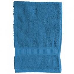 Serviette de toilette Bleu Turquoise 50x90 cm 100 % coton unie linge de toilette salle de bain neuf