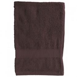 Serviette de toilette marron Chocolat 50x90 cm 100 % coton unie linge de toilette salle de bain neuf
