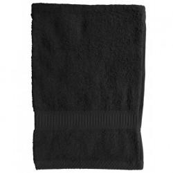 Serviette de toilette Noire 50x90 cm 100 % coton unie linge de toilette salle de bain neuf