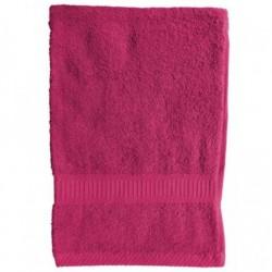 Serviette de toilette Fuchsia 50x90 cm 100 % coton unie linge de toilette salle de bain neuf