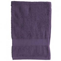 Serviette de toilette Violet 50x90 cm 100 % coton unie linge de toilette salle de bain neuf