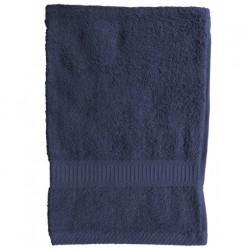 Serviette de toilette Bleu marine 50x90 cm 100 % coton unie linge de toilette salle de bain neuf