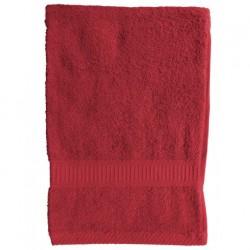 Serviette de toilette Rouge 50x90 cm 100 % coton unie linge de toilette salle de bain neuf