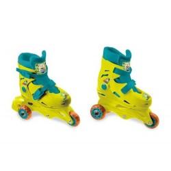 Paire de Rollers skate ligne T29/32 minions jeux Plein air idée cadeau anniversaire noel neuf