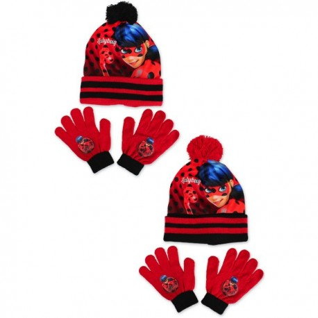 Set 2 pièces bonnet et gants Miraculous enfant vêtements fille hiver neuf