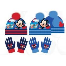 Set ensemble 2 pièces bonnet et gants Mickey Disney enfant garcon neuf