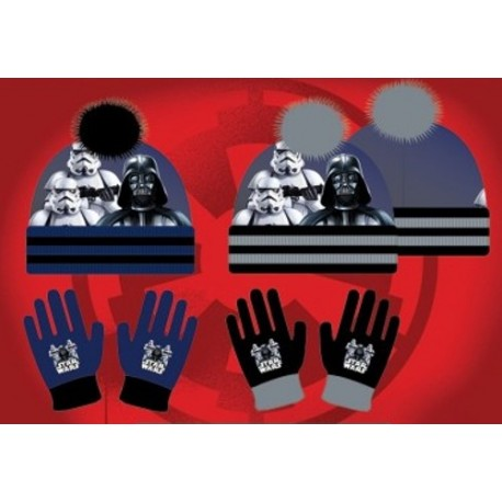 Set ensemble 2 pièces bonnet et gants Star Wars Marvel Disney enfant garcon neuf