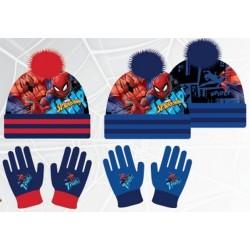 Set ensemble 2 pièces bonnet a pompon et gants Spiderman Marvel Disney enfant garcon neuf