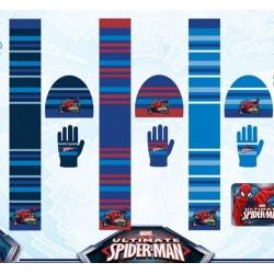 Set ensemble 3 pièces Bonnet + écharpe + gants Spiderman Marvel enfant garcon hiver neuf