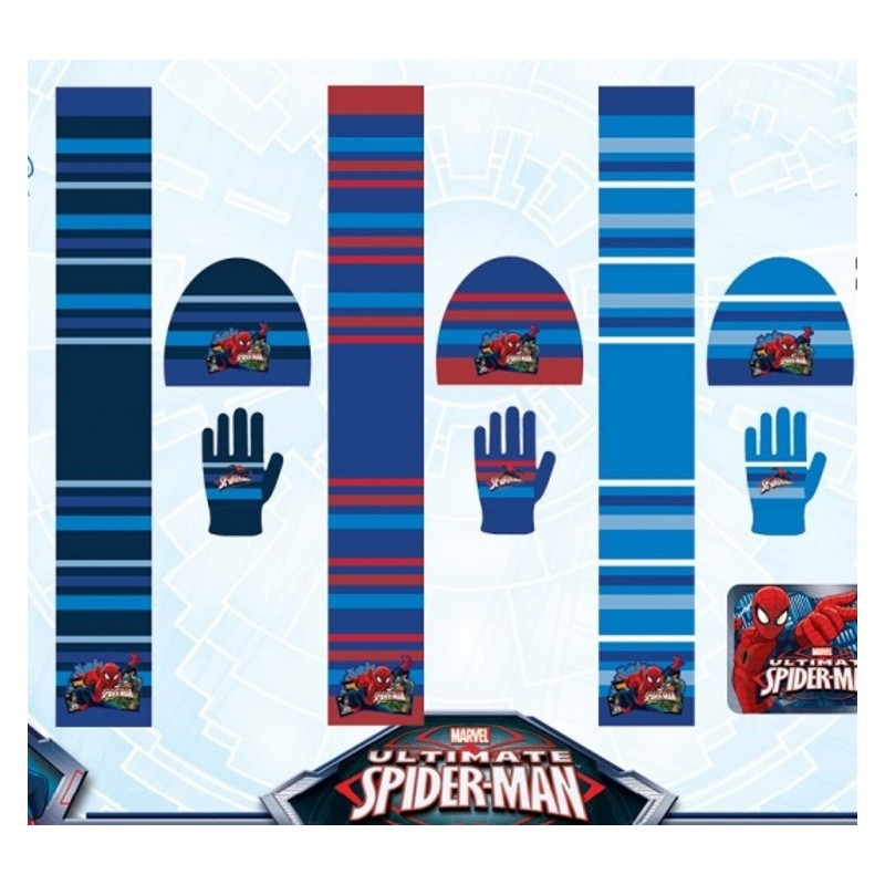 Set 3 pièces Bonnet + écharpe + gants Spiderman Marvel enfant garcon neuf.  Loading zoom aa99b9a89c0