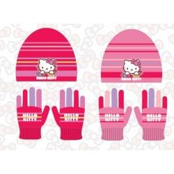 Set ensemble 2 pièces bonnet et gants Hello Kitty enfant fille hiver neuf