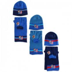 Set ensemble 3 pièces Bonnet + écharpe + gants Pat Patrouille Paw Patrol enfant vêtements garcon hiver neuf