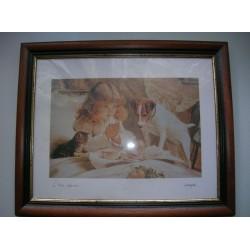 """cadre contour bois marron 34x28.5 cm """"le petit dejeuner- harper"""""""