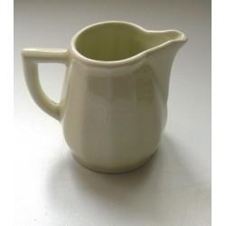 ancien petit pot a lait ceramique gres blanc cassé tbe