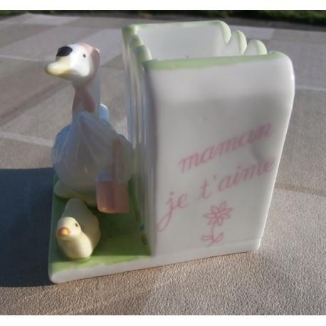 """décoration cuisine boite a cure dents céramique """" maman je t'aime """""""
