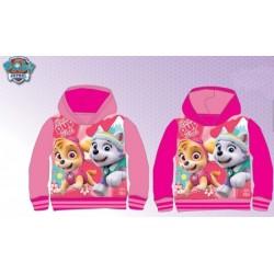 Sweat à capuche avec 2 poches pat patrouille Paw Patrol Fille Skye rose enfant Disney Fille du 2 au 6 ans NEUF