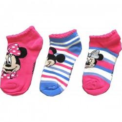 Lot de 3 Paires de socquettes chaussettes fille Minnie Disney taille 23/26-27/30-31/34 licence officielle neuve