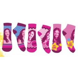 Lot de 3 Paires de socquettes chaussettes fille Soy Luna taille 27/30-31/34-35/36 licence officielle neuve