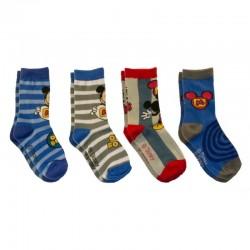 Lot de 4 Paires de chaussettes garcon chaussettes Mickey Disney 23-26, 27-30, 31-34 licence officielle neuve