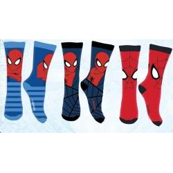 Lot de 3 Paires de chaussettes garcon Spiderman Marvel 27/30-31/34-35/36 licence officielle neuve