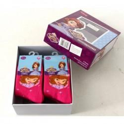 Lot de 6 Paires de chaussettes Anti-Dérapantes Princesse Sofia Disney fille 23/26-27/30-31/34 licence officielle neuve