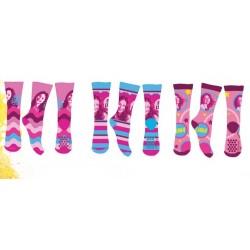 Lot de 3 Paires de chaussettes anti dérapantes fille Soy Luna taille 27/30-31/34-35/36 licence officielle neuve
