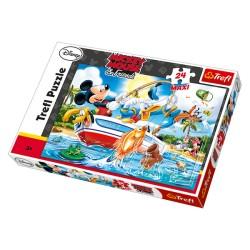 Maxi Puzzle 24 grandes pièces Mickey Disney marque TREFL enfant jeux jouet Idée cadeau anniversaire noel neuf