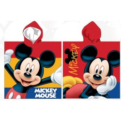 Poncho serviette de bain à capuche enfant 100% coton Mickey Disney plage piscine idée cadeau anniversaire noel neuf