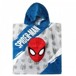 Poncho serviette de bain à capuche enfant 100% coton Spiderman Marvel plage piscine idée cadeau anniversaire noel neuf