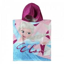 Poncho serviette de bain à capuche coton La reines des neiges Frozen Disney plage piscine idée cadeau anniversaire noel