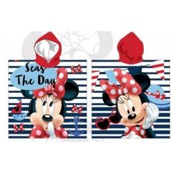 Poncho serviette de bain à capuche enfant Minnie licence Disney plage piscine idée cadeau anniversaire noel neuf