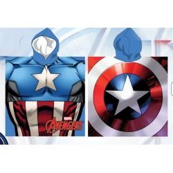 Poncho serviette de bain à capuche microfibre enfant captain america Avengers Marvel idée cadeau anniversaire noel neuf