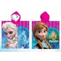 Poncho serviette de bain à capuche microfibre reine des neiges Frozen Disney plage piscine idée cadeau anniversaire noel neuf