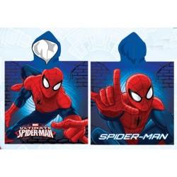 Poncho serviette de bain à capuche microfibre enfant Spiderman Marvel plage piscine idée cadeau anniversaire noel neuf
