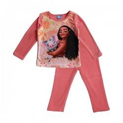 Ensemble pyjama polaire Vaiana fille rose saumon du 3 au 8 ans ENFANT FILLE VETEMENT LICENCE OFFICIELLE DISNEY NEUF
