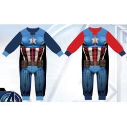 Pyjama polaire Combinaison Avengers du 3 au 8 ans ENFANT GARCON VETEMENT SOUS LICENCE OFFICIELLE MARVEL NEUF