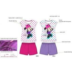 Pyjama Court 2 pièces Minnie du 2 au 6 ans ENFANT FILLE VETEMENT SOUS LICENCE OFFICIELLE DISNEY NEUF