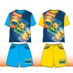 Pyjama Court 2 pièces Minions du 4 au 10 ans GARCON VETEMENT SOUS LICENCE OFFICIELLE NEUF