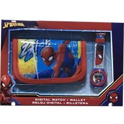Set portefeuille + montre digitale Spiderman Marvel enfant idée cadeau anniversaire noel neuve