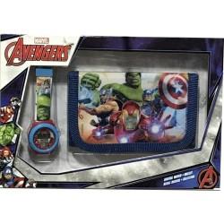 Set portefeuille + montre digitale Avengers Marvel licence officielle idée cadeau anniversaire noel neuf