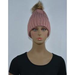 Bonnet polaire Très chaud interieur effet polaire ROSE femme vêtements hiver neuf