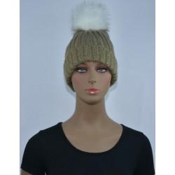 Bonnet polaire Très chaud interieur effet polaire KAKI femme vêtements hiver neuf