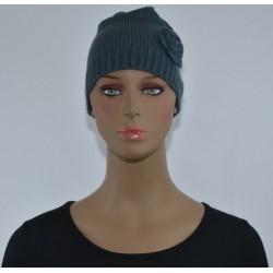 Bonnet Fleur sur le côté vert foncé femme bonne qualité vêtements hiver neuf