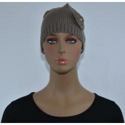 Bonnet Fleur sur le côté BEIGE femme bonne qualité vêtements hiver neuf