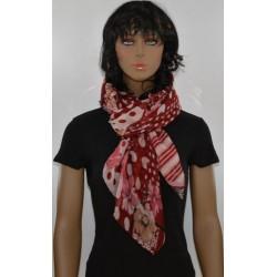FOULARD ROUGE viscose femme très bonne qualité vêtements idée cadeau anniversaire noel neuf
