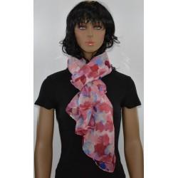 FOULARD ROSE viscose femme très bonne qualité vêtements idée cadeau anniversaire noel neuf