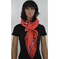 FOULARD ROUGE VICHY viscose femme très bonne qualité vêtements idée cadeau anniversaire noel neuf