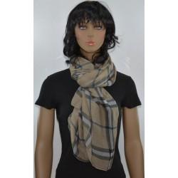 FOULARD BRONZE VICHY viscose femme très bonne qualité vêtements idée cadeau anniversaire noel neuf