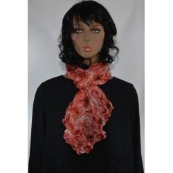 FOULARD froissée ROSE ROUGE viscose femme très bonne qualité vêtements idée cadeau anniversaire noel neuf